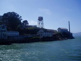Photo of San Francisco Alcatraz Tour plus Muir Woods, Giant Redwoods and Sausalito Day Trip Approaching Alcatraz from the Ferry