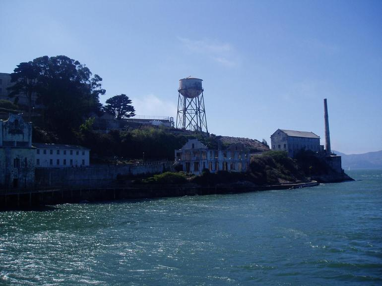 Approaching Alcatraz from the Ferry - San Francisco