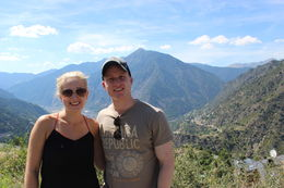 My husband and I on the lookout point in Andorra , Laura H - September 2015
