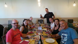 Dinner at the winery with our group after our 2.30pm Vespa ride. The meal was simple but tasty enough. , MEGAN R - June 2015