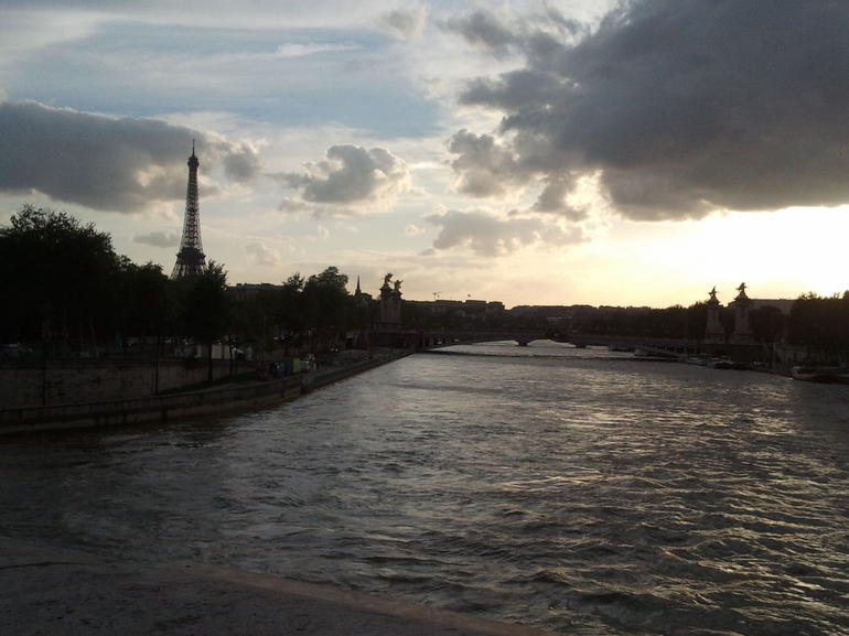 Dusk from the Seine - Paris
