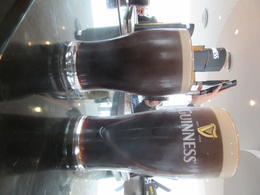 This is a 'int and half-pint pour at the Guinness Bar , Donald Speller - October 2014