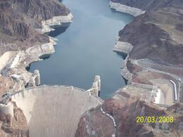 Photo of Las Vegas Grand Canyon Helicopter and Ranch Adventure Hoover Dam Shot from the Helicopter
