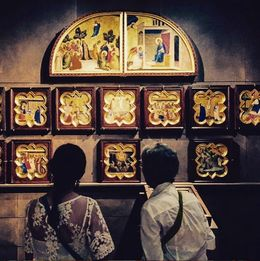 Some of the art inside the Galleria dell'Accademia. , Eva L - August 2015