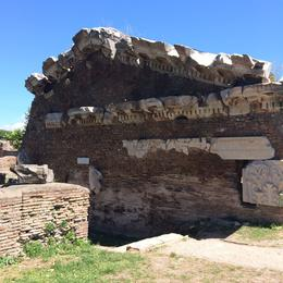 Wall at the ruins of Ostia Antica, lgs888 - June 2014