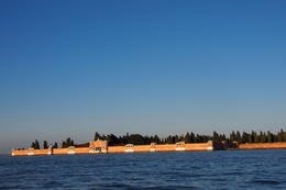 The boat passed near a small island apart from the Venice Islands to the Airport. , Keiko M - January 2011