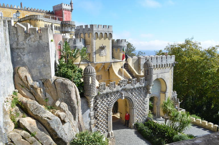 Pena Palace, town of Estoril in Sintra - Lisbon