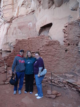 Terry,Nadine and Lisa.... in an awe inspiring ruin. You can almost feel the people who lived here. , LISA K - April 2012