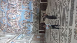 My wife, Pam, snapping a Pic of Michelangelo's incredible ceiling. , Mark P - June 2015