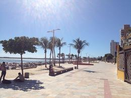 Strolling down the boardwalk in Fortaleza. - August 2012