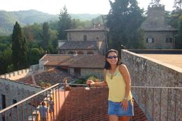 Photo of Florence Chianti Region Wine-Tasting and Dinner Half-Day Trip from Florence Enjoying a bottle after the tasting