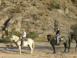 Photo of Las Vegas Wild West Sunset Horseback Ride with Dinner Hubby and I on the trail!