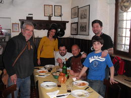 We had the honor of joining the prestigious crew of Scuola Gladiatori Roma at their favorite restaurant. The food was amazing, as was the company. , Anthony F - March 2012