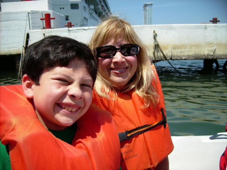 Mom and Troy in Speedboat - Puerto Vallarta
