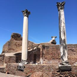 Photo of Rome Ancient Ostia Small Group Day Trip from Rome Ostia Antica columns