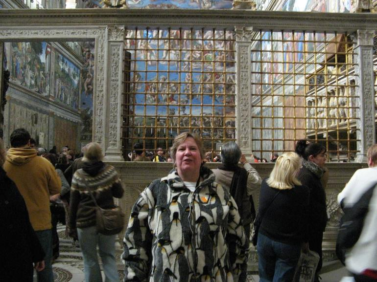 Another tourist pose inside the Sistine Chapel - Rome