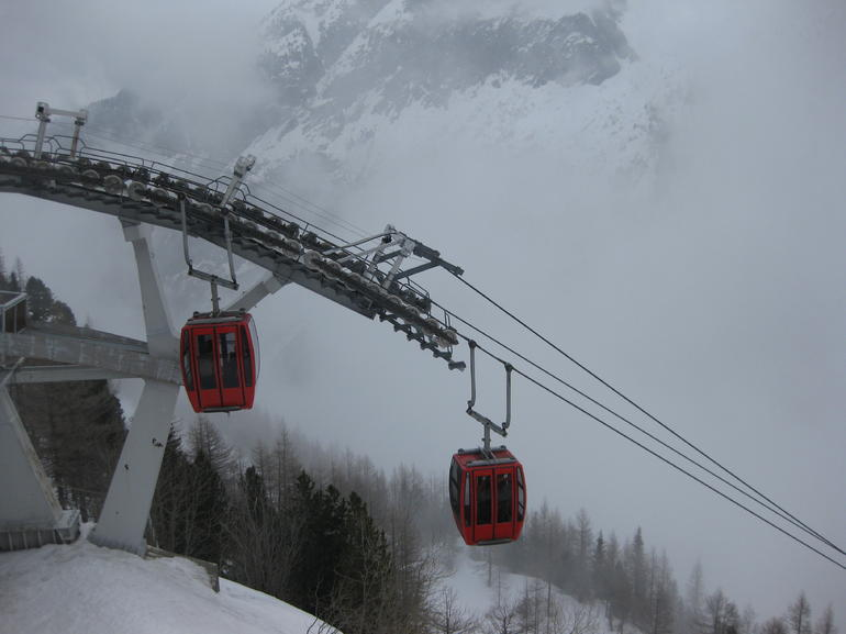 Cable cars at Mer de Glace - Geneva
