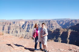 My son and me on the West Rim of the Grand Canyon. , Penny - January 2016