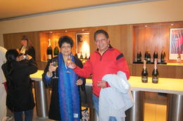 Dilip and Mrunalini at Moet and Chandon - No tour is complete without a glass of Champagne ! Cheers , Dilip K - June 2014
