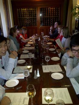 The group enjoyed a delicious 2-course lunch in Yountville, Timetable Tim - April 2012