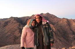 Standing at the top of Moses Mountain in Sinai with our Bedoiun tour guide, Mohammed. , Michael B - January 2011
