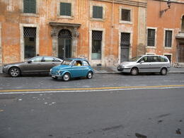 Photo of Rome Private Tour: Rome Sightseeing by Vintage Fiat 500 Parking up in style near Piazza Navona...