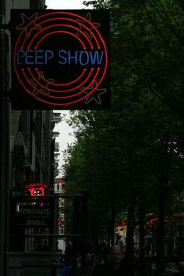 One of the many signs that we saw on our tour through the Red Light District - June 2008