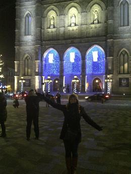 Photo of Montreal Christmas Walking Tour in Old Montreal Place d'Armes square