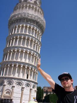 Our son, Cory is holding up the Leaning Tower of Pisa in Italy. , Tony J - January 2011
