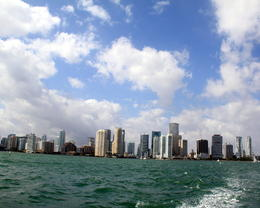 Photo of Miami Miami Combo Tour: City Sightseeing, Biscayne Bay Cruise and Everglades Airboat Ride Skyline — at Miami Financial District