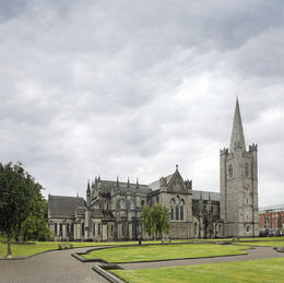 The National Cathedral and Collegiate Church of Saint Patrick's Cathedral in Dublin, Ireland - June 2011