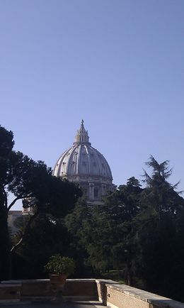 Lovely blue-sky view of St Peter's, Rome during our Viator guided tour. , Sophie B - May 2015