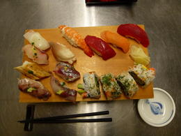 The variety of sushi we were preparing , Mark J - March 2013
