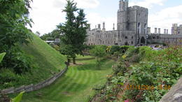 Beautiful gardens in the former moat of Windsor Castle , Joanne S - July 2014