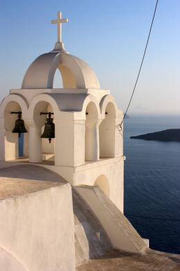 The white of Santorini's building become even more striking against the deep blue of the Agean., Peter - October 2010