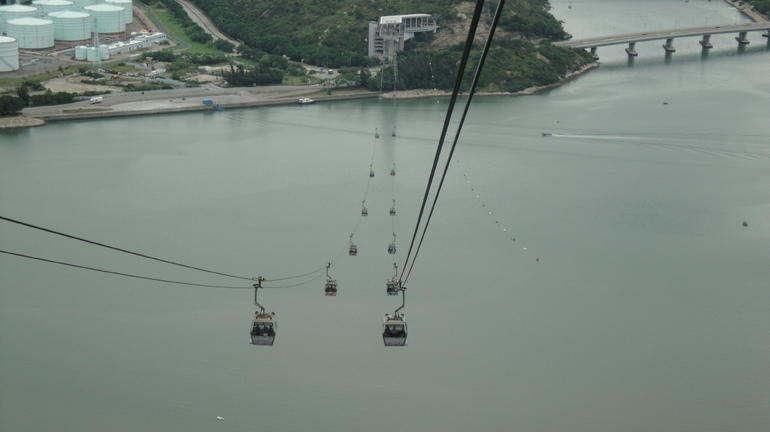 cable car down from the Giant Buddha - Hong Kong