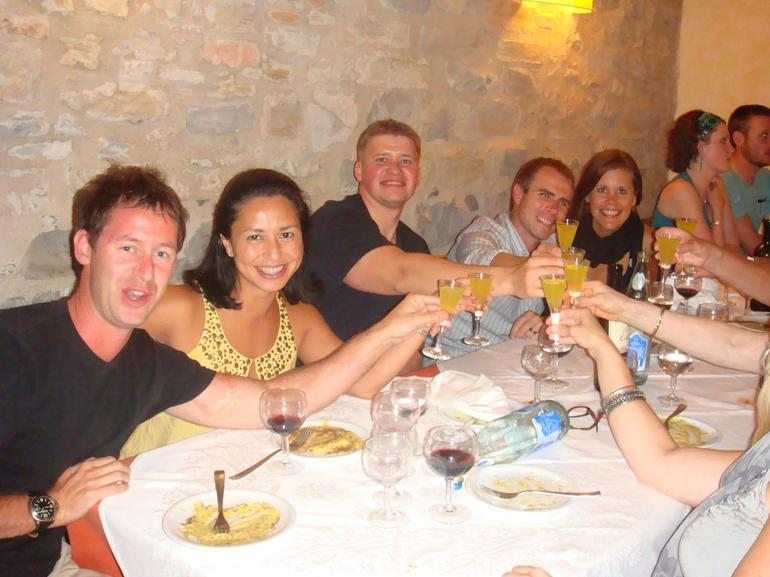 Dinner with friends (limoncello is not included:-) - Florence