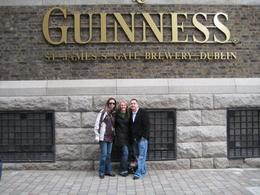 Trish, Brianna, & Matt on our tour of the town, had to stop at Guinness! When in Dublin!, Brianna S - October 2008