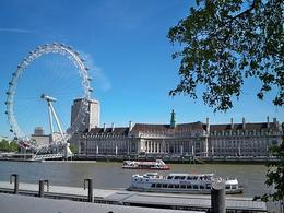 View of the London Eye and Royal Festival Hall aboard the Original Sightseeing Tour., TIFFANY G - June 2010