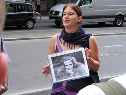 Photo of Berlin Discover Berlin Half-Day Walking Tour Our tour guide and Marlene Dietrich :)