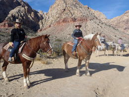 Photo of Las Vegas Old Spanish Trail Horseback Ride with Lunch Posing for photos