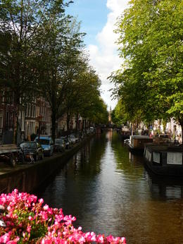 As we were crossing a bridge in Amsterdam, I decided the view was worth photographing. , Arlene D - October 2013