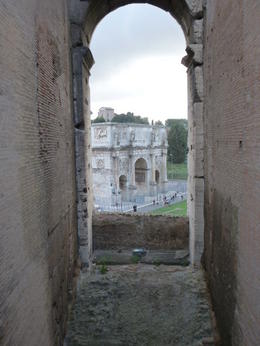 One of the views looking out from the Coliseum. , Maria A B - November 2014