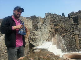Andre - our guide explaining the history of fast food in Pompeii! , SASWATA B - March 2014