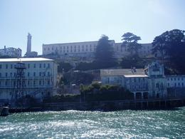 Photo of San Francisco Alcatraz Tour plus Muir Woods, Giant Redwoods and Sausalito Day Trip Approaching Alcatraz from ferry