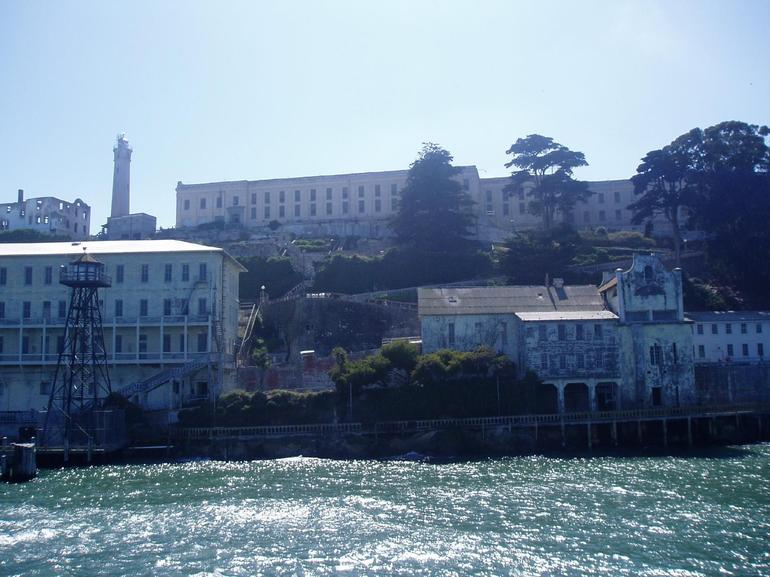 Approaching Alcatraz from ferry - San Francisco