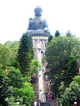 There are 268 steps to the top of the Big Buddha -- glad our tour bus drove us up around the back side! , BethanieKay - July 2014