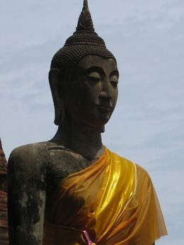 A picture of the Buddha at Ayuthaya. A hot, humid day!, Diane B - July 2008