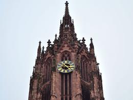 Camera zoom photograph of the cathedral clock spire. , David Lally - December 2014