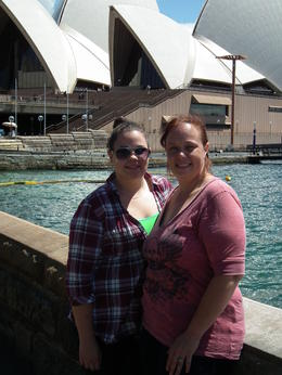 mom and daughter haning out in Sydney , shan-rock - November 2011